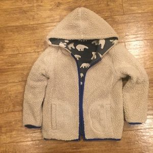 Mini Boden Shirts & Tops - Mini Boden sweatshirt reversible Euc sz 7 boy